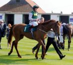 Batgirl after winning at Yarmouth, 2011, Frankie Dettori up (Photo - Emma Berry)
